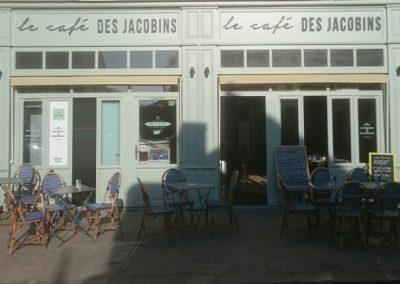 Enseigne pour un nouveau café en plein centre de Rennes