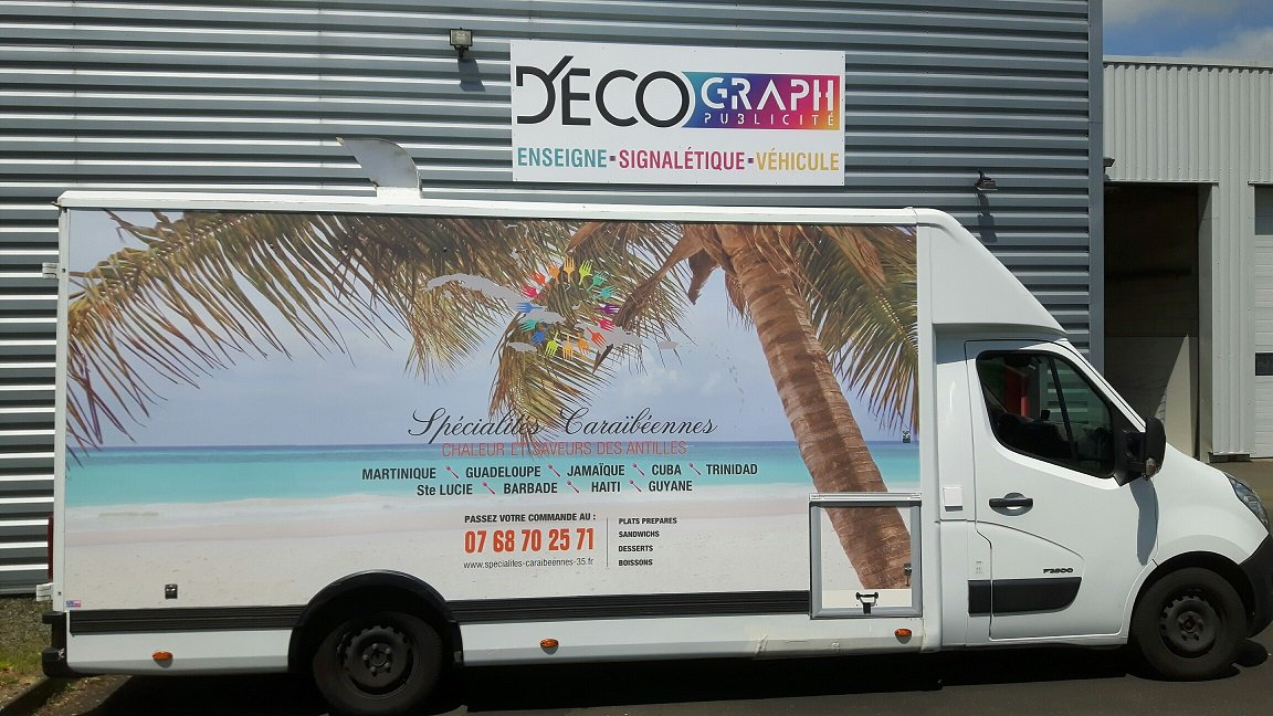Decograph Publicite Rennes - Food truck