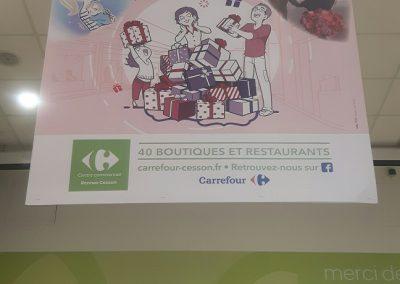 Affiches suspendues 120×100 – Carrefour