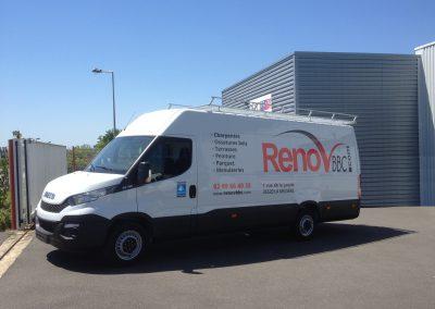 Un marquage véhicule flambant neuf pour l'entreprise Renov BBC