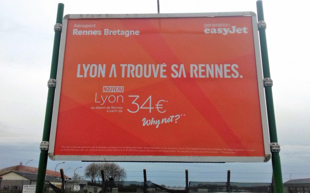 Aéroport de Rennes : Affiche Adhésive 4X3