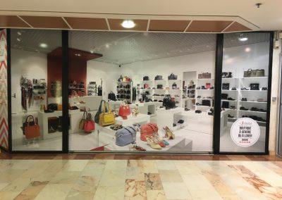 Centre Commercial : Habillage de Vitrines