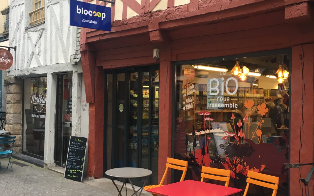Biocoop : Enseigne drapeau sur mesure